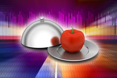 Apple with lid Stock Image