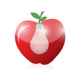 Apple and light bulb illustration design Royalty Free Stock Images