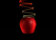 Apple and Light 2 Stock Image