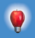 Apple lightbulb Royaltyfria Bilder