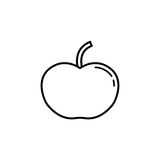 Apple line icon. Food and fruit, health sign vector graphics, a linear pattern on a white background, eps 10 Royalty Free Illustration