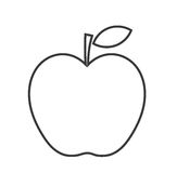Apple linear shape Royalty Free Stock Photography