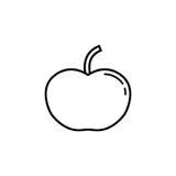 Apple linii ikona Obrazy Royalty Free