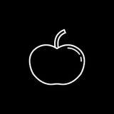 Apple linii ikona Fotografia Stock