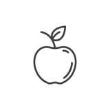 Apple linii ikona, konturu wektoru znak Zdjęcie Royalty Free
