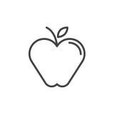 Apple linii ikona, konturu wektoru znak Obraz Royalty Free