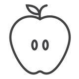 Apple linii ikona, konturu znak Zdjęcia Royalty Free