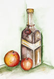 Apple liqueur Stock Photo