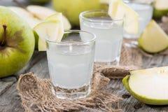 Apple Liqueur Shots Stock Images