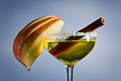 Apple liquor with cinnamon Royalty Free Stock Image