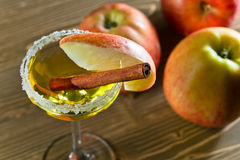Apple liquor with cinnamon Stock Images
