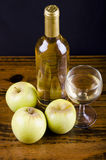 Apple liquor (mosto) Stock Photos