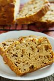 Apple loaf cake Royalty Free Stock Image
