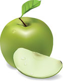Apple and lobule Royalty Free Stock Image