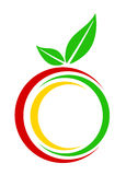 Apple logo. Illustration of an apple on a white background Royalty Free Stock Image