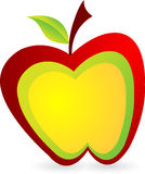 Apple logo. Illustration art of a apple logo with  background Royalty Free Stock Photo