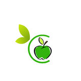 Apple Logo. With alphabet C Stock Image