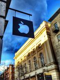 Apple logo in Covent garden. This is pictures of the logo apple shop in covent garden Royalty Free Stock Image