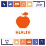 Apple - logo di semitono Immagine Stock Libera da Diritti
