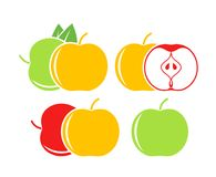 Apple logo. Isolated apple on white background. EPS 10. Vector illustration Stock Photos