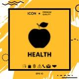 Apple - logo tramé Photo libre de droits