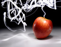 Apple with Long Exposure Light Stock Photo