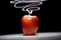 Apple with Long Exposure Light Royalty Free Stock Photo