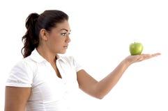 apple looking woman Στοκ Εικόνες