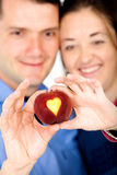 Apple of love - couple Stock Image