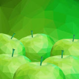 Apple Low Poly Background Stock Photo