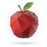 Apple low poly design Royalty Free Stock Images