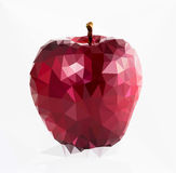 Apple low poly Royalty Free Stock Photography