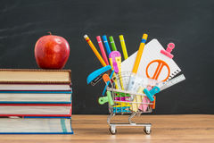Apple lunch will help you shopping for back to school education Stock Photography