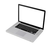 Apple mac book pro. Top view of modern laptop similar mac bok pro illustration 3d Royalty Free Stock Photography