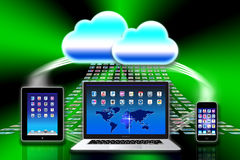 Apple Mac iCloud data apps. Apple Mac iCloud computer data organisation is so much more than a hard drive in the sky. It makes it quick and effortless to access Stock Illustration