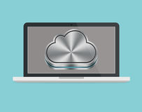 Apple mac icloud laptop Stock Photography