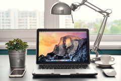 Apple MacBook Air Early 2014 Royalty Free Stock Photography