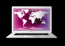 Apple macbook air laptop computer Stock Images