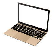 Apple MacBook gold Stock Images