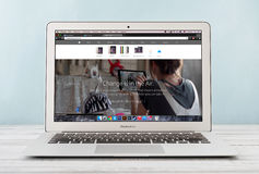 Apple MacBook luft tidigt 2014 Royaltyfri Bild