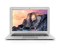 Apple MacBook luft tidigt 2014 Royaltyfri Foto