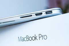 Apple MacBook Pro unboxing Royalty Free Stock Photography