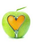 Apple machen Reißverschluss zu Stockfotos