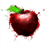 Apple made of colorful splashes. On white background Stock Images