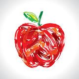 Apple, making of painting Royalty Free Stock Images