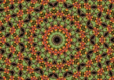 Apple mandala. Like orient carpet Stock Photography