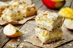 Apple mango cream cheese oat bars Royalty Free Stock Photography