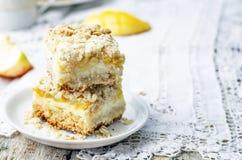 Apple mango cream cheese oat bars Stock Image