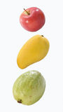 Apple, mango & guava Stock Photos