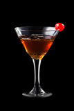 Apple manhattan coctail royalty free stock image